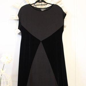 Carole Little Velour & Knit Maxi Dress XL